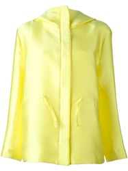 P.A.R.O.S.H. Concealed Fastening Hooded Jacket Yellow Orange