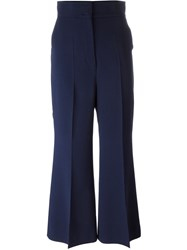 Sportmax 'Roland' Flare Trousers Blue