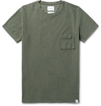 Norse Projects Niels Cotton Boucle T Shirt Army Green