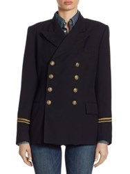 Polo Ralph Lauren Double Breasted Military Jacket Blue