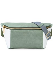 Buscemi Colour Block Belt Bag Green