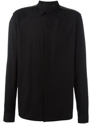 Haider Ackermann Striped Detail Shirt Black