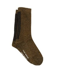 Isabel Marant Lily Metallic Jersey Ankle Socks Gold