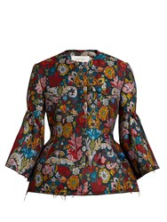 Marques Almeida Floral Brocade Bell Sleeved Jacket Multi