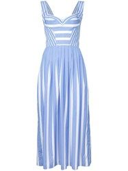 Ermanno Scervino Striped Sundress Women Cotton 38 Blue
