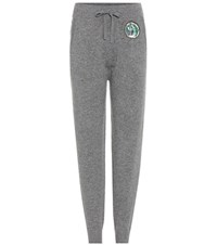 Burberry Rivertaro Wool And Cashmere Sweatpants Grey