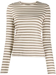 Theory Round Neck Striped Top 60