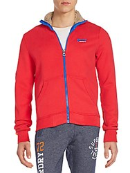 Superdry Orange Label Track Jacket Indiana Red