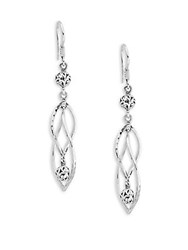 Lois Hill Twisted Sterling Silver Drop Earrings
