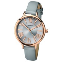 Sekonda 2356.27 Women's Leather Look Strap Watch Grey Silver
