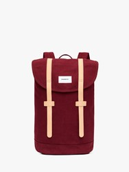 Sandqvist Stig Organic Cotton Backpack Burgundy Natural