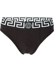 Versace Greca Waistband Briefs Black