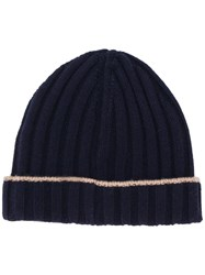 Brunello Cucinelli Ribbed Knit Beanie Hat 60