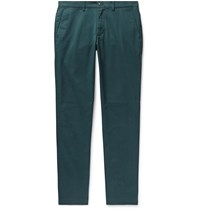 Club Monaco Connor Slim Fit Cotton Blend Twill Chinos Green