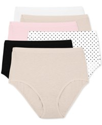 Fruit Of The Loom Premium 6 Pk. Briefs 6Dpusb1 White Cashmere Kitty Pink Small Dots Black Cash