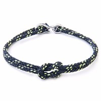Anchor And Crew All Black Foyle Rope Bracelet