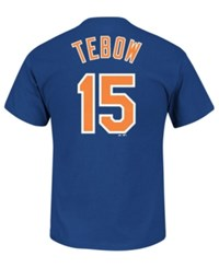 Majestic Men's Tim Tebow New York Mets Official Player T Shirt Royalblue