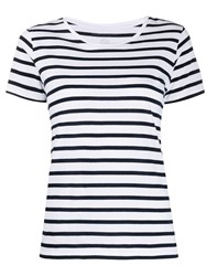 Majestic Filatures Striped Cotton T Shirt 60