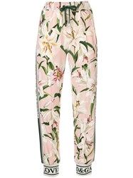 Dolce And Gabbana Floral Print Track Pants Pink