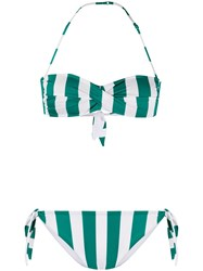 Mc2 Saint Barth Tiare Striped Bikini Green