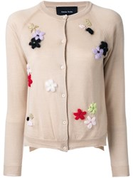 Simone Rocha Flower Cardigan Brown