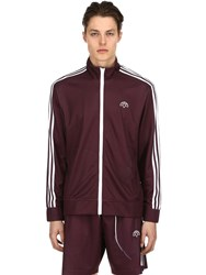 Adidas By Alexander Wang Aw Printed Zip Up Track Jacket Purple White