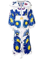 Yuliya Magdych Loves Me Embroidered Dress White