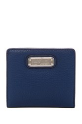 Marc By Marc Jacobs New Q Slim Leather Emi Bifold Wallet Blue