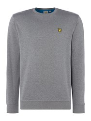 Lyle And Scott Men's Thompson Fleece Crew Neck Sweat Grey