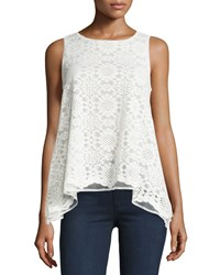 Max Studio Lace A Line High Low Tank Ivory