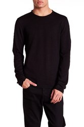 John Varvatos Long Sleeve Crew Neck Sweater Black