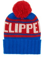 The Elder Statesman X Nba Men's La Clippers Cashmere Pom Pom Beanie Light Blue