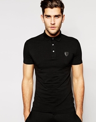 Antony Morato Polo Shirt With Chest Badge Black