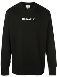Makavelic 'Gun And Rose' Sweatshirt Black
