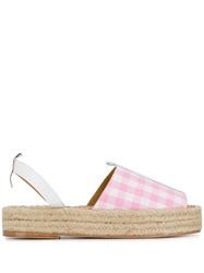 Dodo Bar Or Checked Espadrille Sandals Pink
