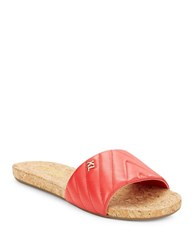 Karl Lagerfeld Lobau Slide Sandals Coral Red