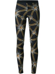 Fausto Puglisi Sun And Chain Print Leggings Black