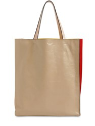 Marni Museo Soft Smooth Leather Tote Cement