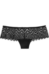 Lonely Misha Stretch Lace Briefs Black