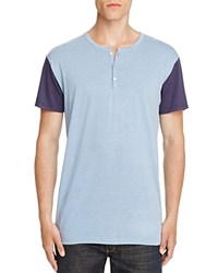 Sovereign Code Hampshire Color Block Henley Tee Light Blue Navy