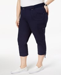 Lee Platinum Plus Size Cropped Cargo Pants Rainstorm