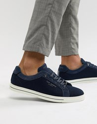 Ted Baker Werill Trainers In Navy Blue