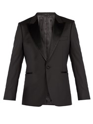 Paul Smith Single Breasted Wool Tuxedo Jacket Black