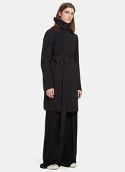 Rick Owens Technical Trench Coat Black