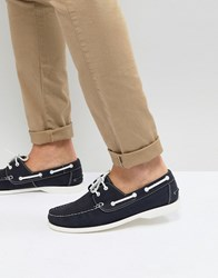 Frank Wright Boat Shoes In Navy