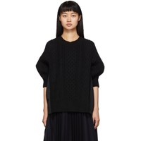 Sacai Black Knit Wool Sweater