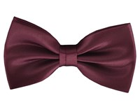 Double Two Plain Bow Tie Red