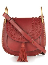 Chloe Hudson Small Leather Cross Body Bag Burgundy