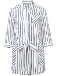 Milly Striped Romper White
