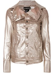 Ann Demeulemeester Oversized Collar Jacket Cotton Metallic